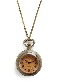 Very Important Date Necklace:  Never miss the start of a concert with this convenient timepiece that brings vintage charm to your look.
