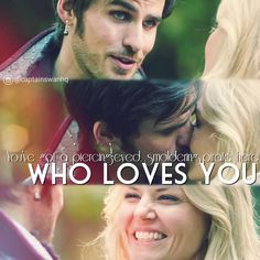 """You've got a piercing-eyed smoldering pirate here, who loves you."" - Hook #CaptainSwan #onceuponatime #captainswanhq Emma's smile is literally mine when he said this to her. Emma deserves so much love and Hook is perfect for giving that to her. P.S. I am so excited to share this edit. I worked on it awhile ago."