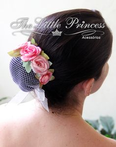 00491 Accessory for ballerina bun - Dahlia Satin Ribbon Flowers, Fabric Flowers, Hair Ribbons, Hair Bows, Dance Bows, Bun Wrap, Ballerina Bun, Ribbon Flower Tutorial, Kanzashi Flowers