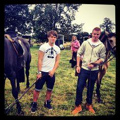 Josh with horses. Enough said.