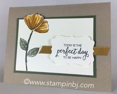Bunch of Blossoms, Blossom Builder Punch, Stampin' Up!, BJ Peters…