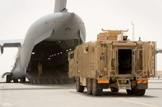 Mastiff Armoured Vehicles Transported to the UK from Afghanistan