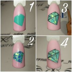 How to choose your fake nails? - My Nails Nail Art Hacks, Nail Art Diy, Diy Nails, Cute Nails, Pretty Nails, Nail Nail, Jolie Nail Art, Birthday Nail Designs, Birthday Nails