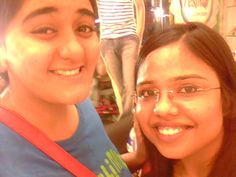 The bad selfie.  With Amreen Makhani. Chennai 2012.