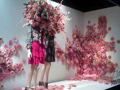 Unique floral window display
