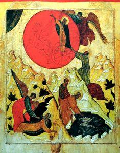 ОГНЕННОЕ ВОСХОЖДЕНИЕ СВЯТОГО ПРОРОКА БОЖИЯ ИЛИИ Икона XV века () www.flickr.com by Jacques Bihin
