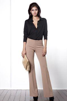 Home - Andrea Yasmin Professional Wear, Khaki Pants, Suits, Chic, How To Wear, Fashion, Shabby Chic, Moda, Khakis