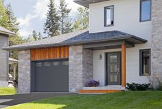 Did you remember to shut the garage door? Most smart garage door openers tell you if it's open or shut no matter where you are. A new garage door can boost your curb appeal and the value of your home. Grey Garage Doors, Garage Door Trim, Garage Door Colors, Garage Door Styles, Garage Door Makeover, Garage Door Design, Exterior Remodel, Exterior Doors, Exterior Paint