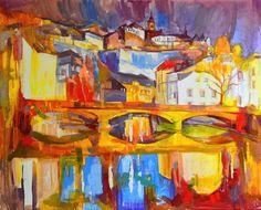 «Soir à Luxembourg.» 2017, huile sur toile, 65×81 cm.