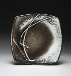 Malcolm Davis cut-rim square plate