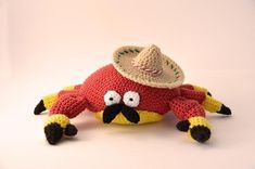 7 #crochet sombrero patterns for Cinco de Mayo - This crochet pattern is sold on Craftsy by FlyingDutchman.