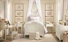 This is a beautiful bedroom for a little girl.  It's not too over the top, but screams princess in its own way.  Baronessa Home Furnishings and Accessories boasts a beautiful online showroom, which is a combination of custom made, vintage, and antique luxury home furnishings and accessories. Visit our website at www.ShopBaronessa.com.