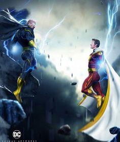 """870 Likes, 15 Comments - ™ DC Comics. (@dcgramm) on Instagram: """"Black Adam (@therock) vs Shazam (@armiehammer) this is who The Rock has been wanting to play…"""""""