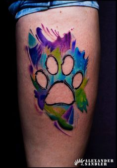 Abstract Dog Paw http://tattooideas247.com/abstract-dog-paw/