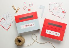 Free printable mini mailboxes and note cards for kids from TinyMe