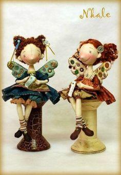 Текстильные и вязаные куклы и игрушки