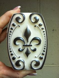 Antiqued White Fleur De Lis by sweetsoaps on Etsy, $30.00