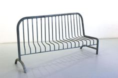 Barrier Bench by Philippe Million Concrete Furniture, Furniture Removal, Urban Furniture, Street Furniture, Metal Furniture, Sofa Furniture, Furniture Plans, Furniture Design, Furniture Assembly