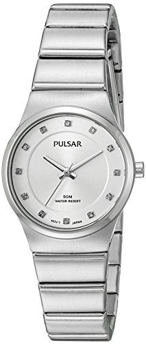 Pulsar Womens Jewelry Quartz Stainless Steel Dress Watch Model PH8199 -- To view further for this item, visit the image link.