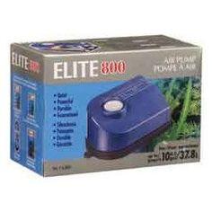$27.48-$10.49 Elite A800 800 Air Pump - Hagen Elite 800 Air Pump - 110 V Features:Elite 800 Air Pump1500 cc/minute2.5 P.S.I.2.0 Watts/hourRecommended Aquarium 10 gal http://www.amazon.com/dp/B0002AQFZ2/?tag=pin2pet-20