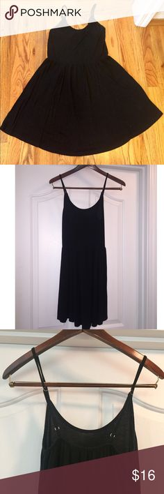 Brandy Melville Women's Dress Brandy Melville black cotton dress with adjustable straps. Brandy Melville Dresses Mini