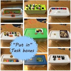 "Little Miss Kimberly Ann: ""Put in"" task boxes. Love these, so simple!"
