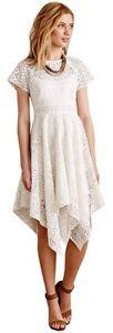 MAEVE Anthropologie prima lace dress white handkerchief tribal wedding NWT 0P from My Strawberry Fox!