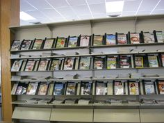The Magazine Wall.  At one time this divided the adult and children's areas which were both on the upper level.