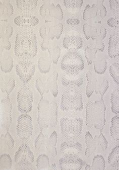 Boa Wallpaper A faux snake skin design wallpaper in a soft lilac and grey colouring with highlights of silver