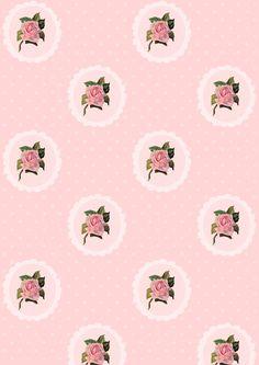 FREE printable vintage rose pattern paper ^^