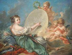 Alegoría a la Pintura (1765) François Boucher (Francia, 1703-1770) Rococó