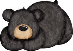 CH.B *✿* Happy Camper Quilt Baby, Scrapbooking Image, Urso Bear, American Black Bear, Bear Clipart, Bear Paintings, Bear Drawing, Bear Crafts, Bear Cartoon