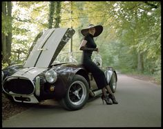 I do hope some one comes by soon. I love my 965 Ford AC Cobra. Oh here comes someone oh, another one.......and one more gentlemen to help................   by Radoslaw Pujan