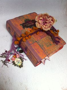 Boho custom Wedding Guest Book polaroid Scrapbook Album Spanish Moroccan block printed titles Sufi Rumi quotes floral tiles
