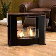 Wildon Home Kilgore Portable Indoor / Outdoor Fireplace in Black