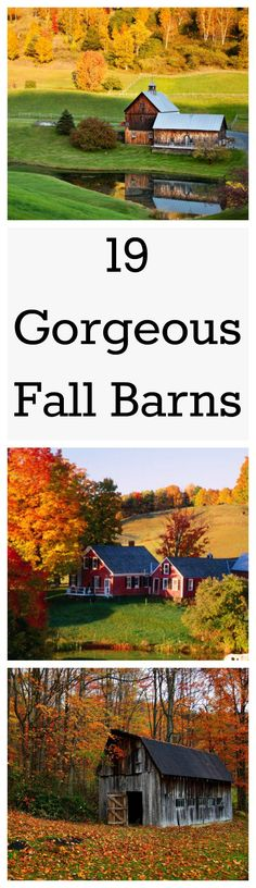These barns are making us excited for fall to roll around.