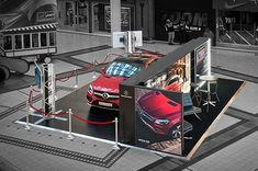 Custom activation exhibit for Mercedes GLE Coupe at V&A Waterfront, Cape Town, South Africa Web Banner Design, Exhibition Booth Design, Exhibition Display, Mercedes Gle Coupe, V&a Waterfront, Space Images, Cinema 4d, Store Design, Benz