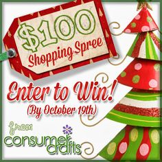 $100 Holiday Shopping Spree Giveaway with Consumer Crafts ~ * THE COUNTRY CHIC COTTAGE (DIY, Home Decor, Crafts, Farmhouse)