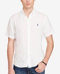 POLO RALPH LAUREN Polo Ralph Lauren Men S Short-Sleeve Linen Shirt.   poloralphlauren   2f9573ac46940