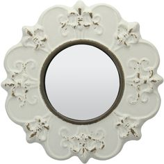 Parisian Worn Ceramic Distressed Wall Mirror Reviews ($40) ❤ liked on Polyvore featuring home, home decor, parisian home decor, ceramic home decor, antiqued wall mirror, paris home decor and distressed home decor