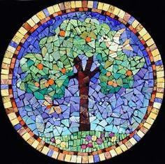 tree mosaic by lauri