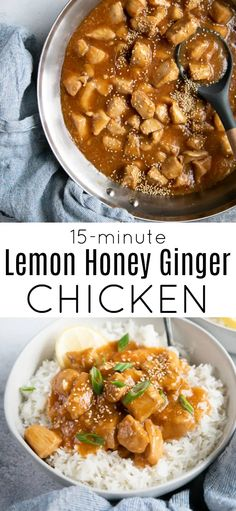 This Lemon Honey Ginger Chicken Recipe is filled with delicious, bite-sized chicken pieces smothered in a mouthwatering sauce made with simple ingredients such as honey, lemon, ginger, and garlic. Serve over white rice for a fast and easy weeknight dinner the whole family will love!