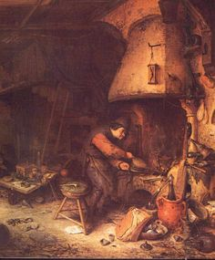 Adrian van Ostade (1610-85)  The Alchemists, 1657.