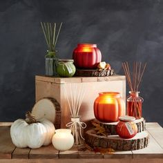 The first signs of fall are usually pumpkin-scented. Layer in seasonal touches with notes of caramel, clove, cedar and nutmeg—all with on-trend colors for easy styling!