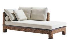 Canapea pentru living, cu impletitura zambila - Exotique.ro