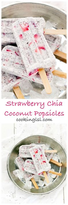 Strawberry-Chia-Coconut-Popsicles-recipe                                                                                                                                                      Más