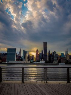 New York City skyline from Long Island