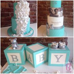 I like the baby block ideas. I would like them in a pale pink & white OR light taupe & white