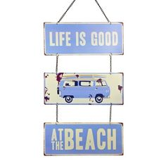 Campervan Metal Plaque