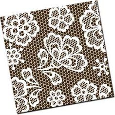 White Lace Chocolate Transfer Sheet
